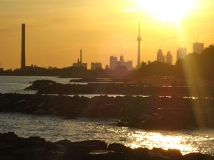 image of Toronto Skyline from the beach